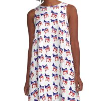 Democrat Pattern A-Line Dress