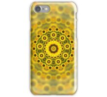 Abstract Sunflower Fractal Pattern iPhone Case/Skin