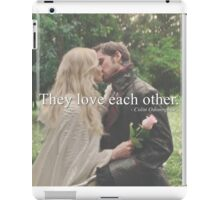 love each other iPad Case/Skin