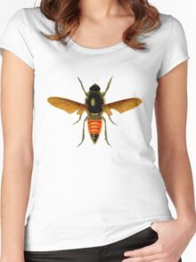 The flies, vintage retro amazing design! Women's Fitted Scoop T-Shirt