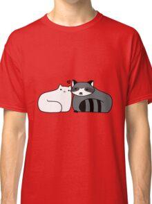 Raccoon and Cat Love Classic T-Shirt