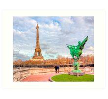 Tilting at Windmills - France Reborn & The Eiffel Tower Art Print