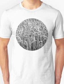 Black and White Wheat Unisex T-Shirt