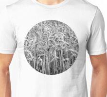 Black and White Wheat Unisex T-Shirt