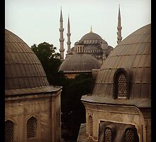 Blue Mosque-a different view by Jeanethomas