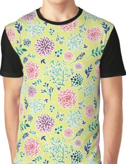 Purple and Pink Floral Graphic T-Shirt