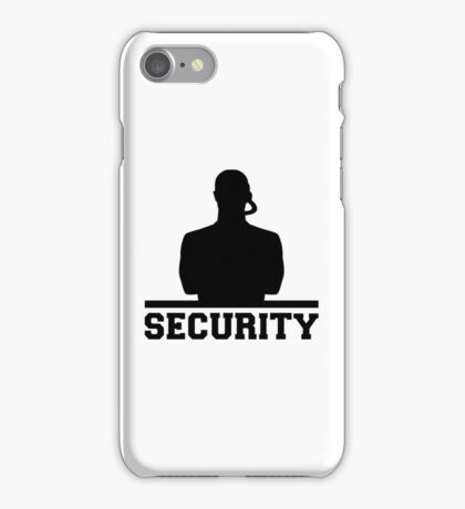 Security iPhone Case/Skin