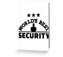 World' best security Greeting Card