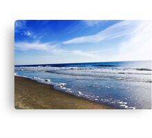 Down by the Ocean Shore Canvas Print