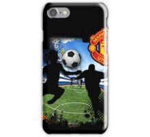 soccer Man-Uni Black iPhone Case/Skin