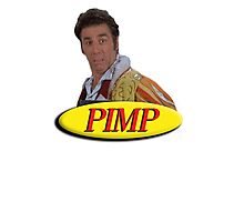 Cosmo Kramer from Seinfeld as a pimp Photographic Print
