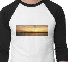 Golden Dusk Sea Sunset. Men's Baseball ¾ T-Shirt