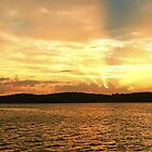 Golden Dusk Sea Sunset. by sunnypicsoz