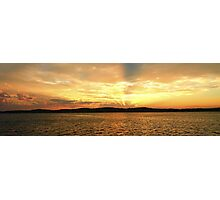 Golden Dusk Sea Sunset. Photographic Print