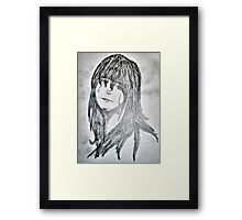 Travel sketch - Woman Framed Print