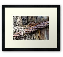 Ancient Cable Line Framed Print