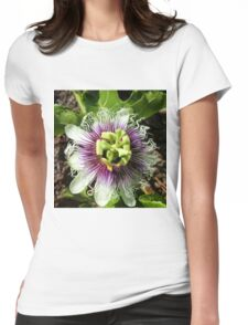 Passionfruit Flower Womens Fitted T-Shirt