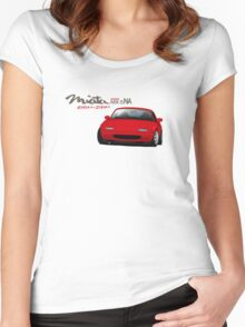 Mazda MX-5 Miata NA Women's Fitted Scoop T-Shirt
