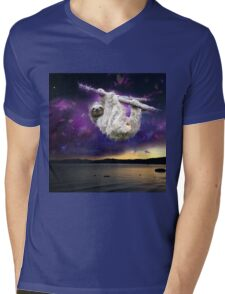 Sloth universe  Mens V-Neck T-Shirt