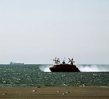 Our Hovercraft coming in Hovercraft port Boulogne France 198405090002 by Fred Mitchell