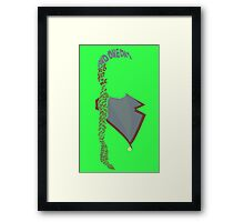 The Wizard and I Framed Print
