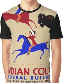 Vintage poster - Indian Court Federal Building Graphic T-Shirt