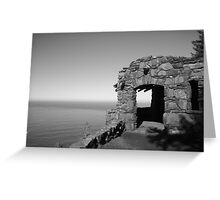 BW Stone Shelter Greeting Card