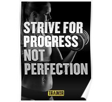 Strive for progress not perfection Poster