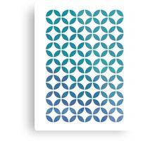 Symmetry Circles - Cool Colors Metal Print