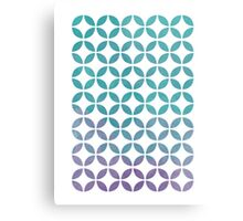 Symmetry Circles - Purple & Blue Metal Print