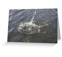 Water Sploosh Greeting Card