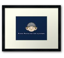 See You Next Wednesday Framed Print