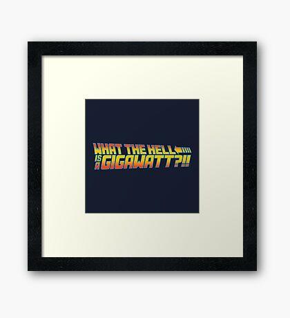 One Point Twenty One Framed Print