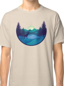 Mountain Life Minimal Landscape Classic T-Shirt