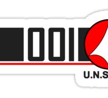 Robotech Macross VF-1 Valkyrie U.N. Spacy Sticker