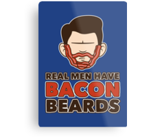 Bacon Beard (men's version) Metal Print