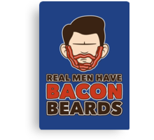 Bacon Beard (men's version) Canvas Print