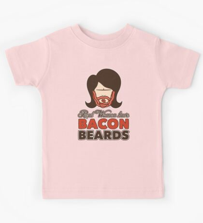Bacon Beard (women's version) Kids Clothes
