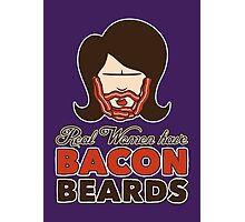 Bacon Beard (women's version) Photographic Print