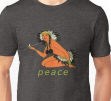 Vintage Native American Peace Pipe Unisex T-Shirt
