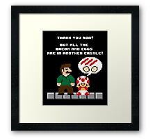 I'm Not Here For the Princess Framed Print