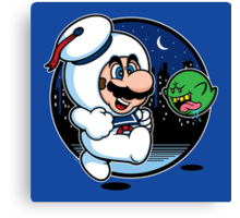 Super Marshmallow Bros. Canvas Print