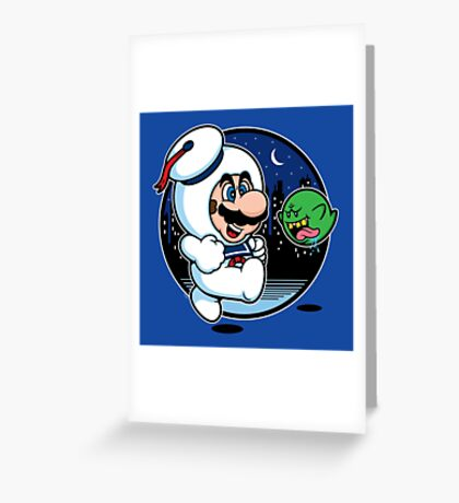 Super Marshmallow Bros. Greeting Card