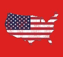 USA Map Flag by WickedCool