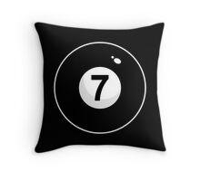Black Seven Throw Pillow