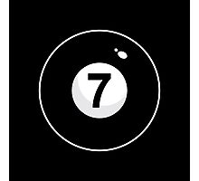 Black Seven Photographic Print