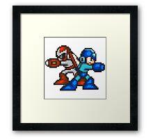 Megaman And Protoman Framed Print