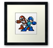 Megaman And Protoman Framed Print