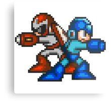 Megaman And Protoman Metal Print