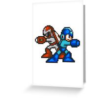 Megaman And Protoman Greeting Card